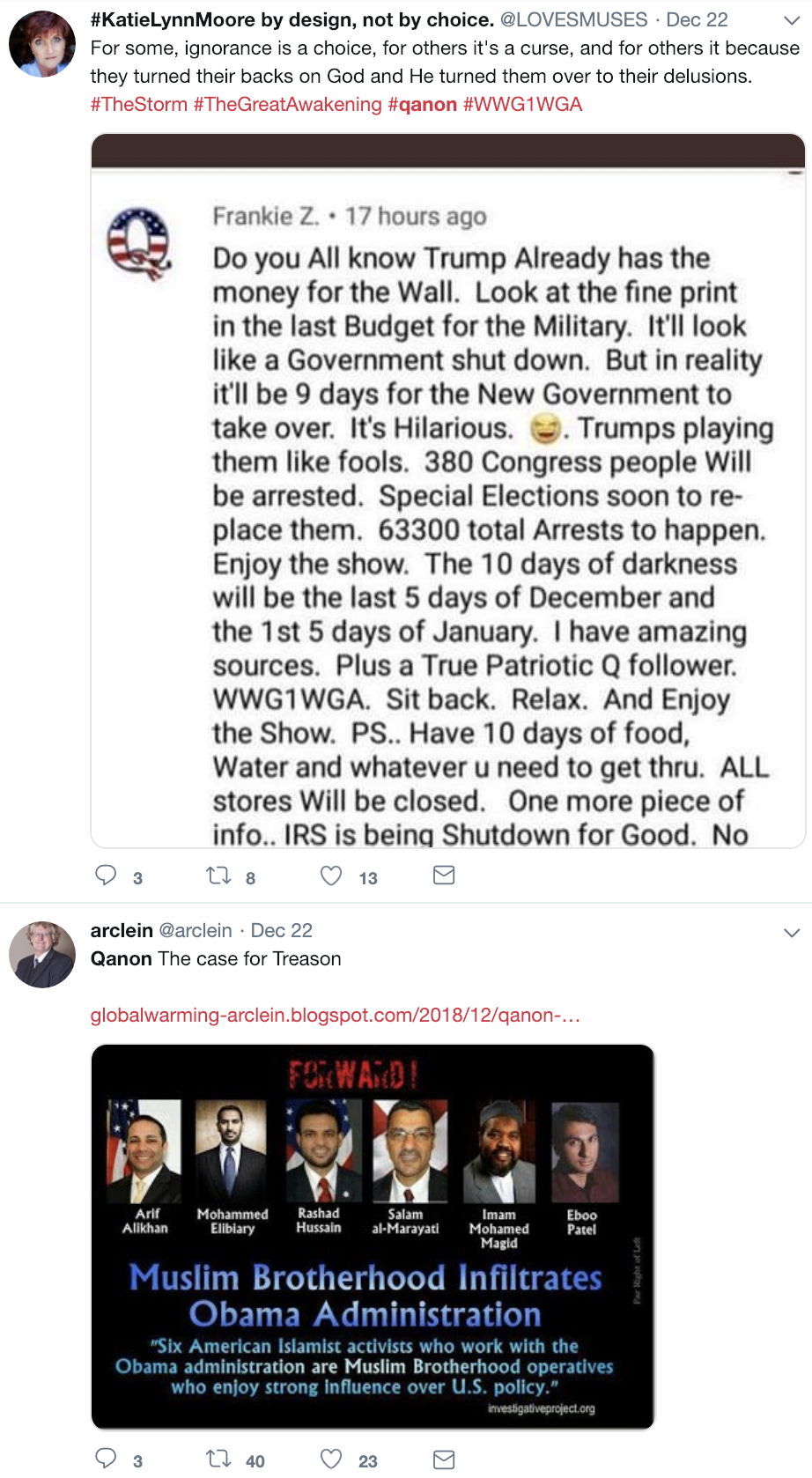 Screen-Shot-2018-12-23-at-10.44.57-AM Trump-Supporting 'QAnon' Conspiracy Theorists Whine About Being Alone For X-Mas Corruption Donald Trump Election 2016 Election 2018 Election 2020 Social Media Top Stories