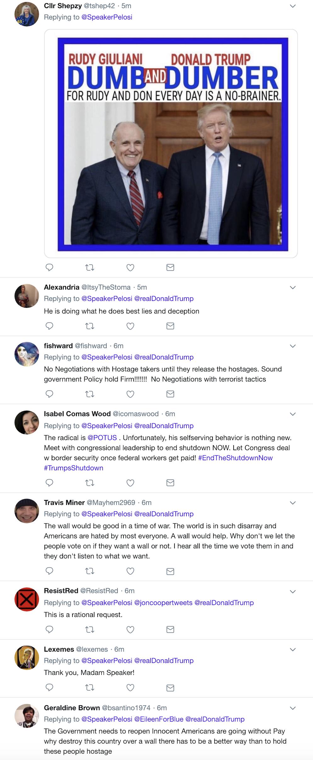 Screen-Shot-2019-01-20-at-9.07.42-AM Pelosi Responds To Trump's Sunday Morning Tweet Attack Like A Rebel Badass Corruption Crime Domestic Policy Donald Trump Politics Top Stories