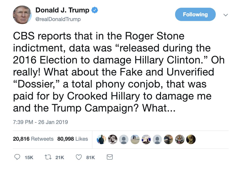 Screen-Shot-2019-01-27-at-7.13.09-AM Trump Snaps & Erupts Into Multi-Tweet Paranoid Weekend Meltdown (IMAGES) Corruption Crime Donald Trump Election 2016 Politics Top Stories