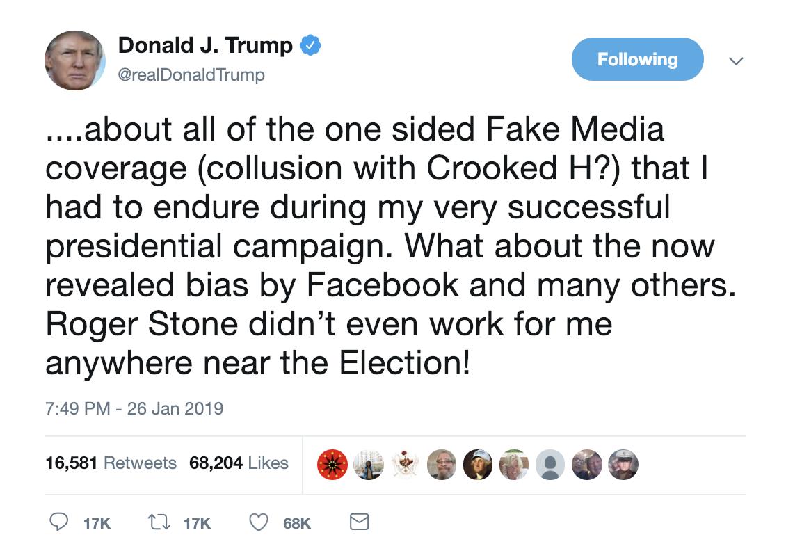 Screen-Shot-2019-01-27-at-7.14.04-AM Trump Snaps & Erupts Into Multi-Tweet Paranoid Weekend Meltdown (IMAGES) Corruption Crime Donald Trump Election 2016 Politics Top Stories