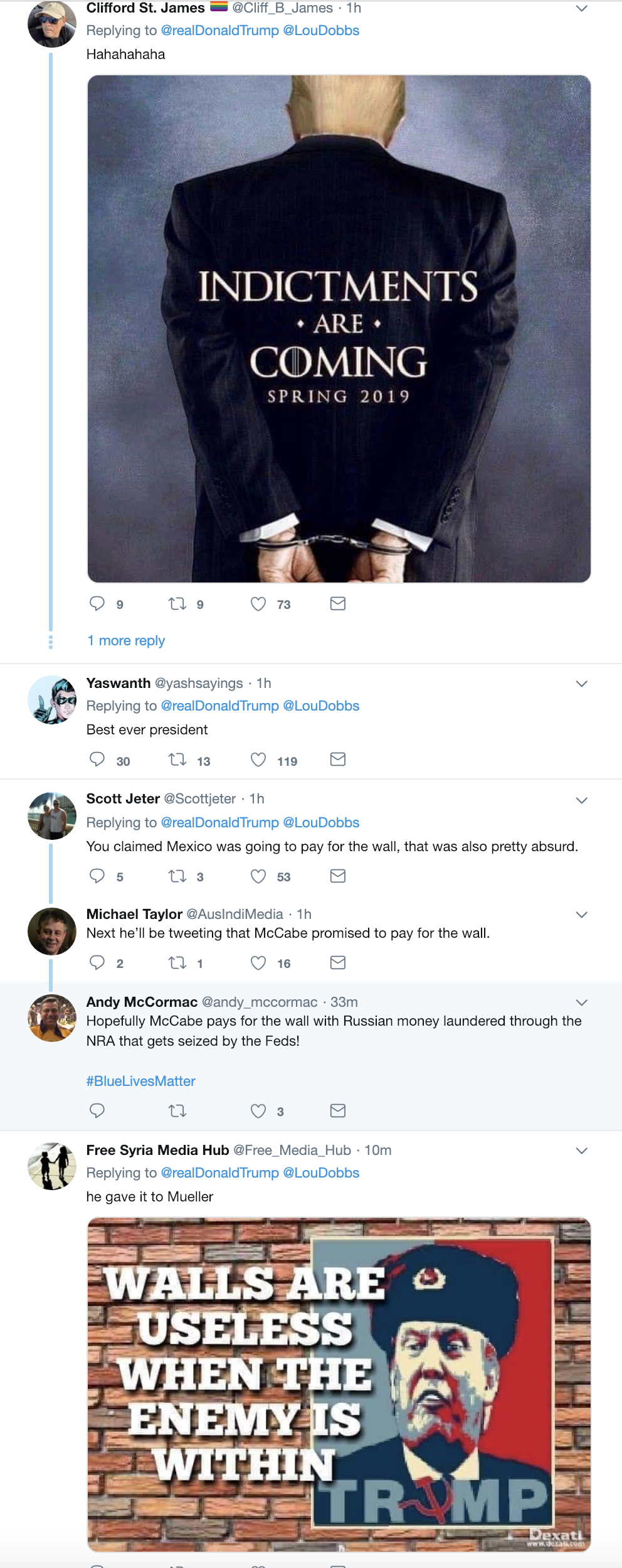 Screen-Shot-2019-02-20-at-7.11.48-AM Trump Wakes In A Tizzy, Unleashes 5-Tweet Ramble Like A Mental Patient Corruption Crime Donald Trump James Comey Mueller Politics Robert Mueller Russia Top Stories