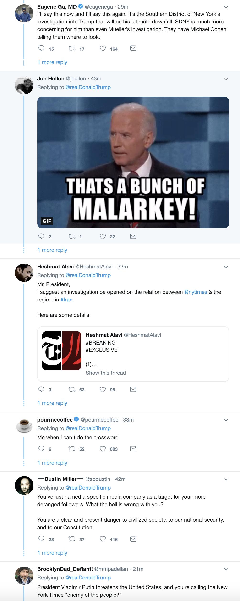 Screen-Shot-2019-02-20-at-8.34.23-AM1 Trump Continues AM Tweet-Attacks, Puts NY Times In Direct Danger Corruption Crime Donald Trump Media Mueller Politics Robert Mueller Russia Top Stories