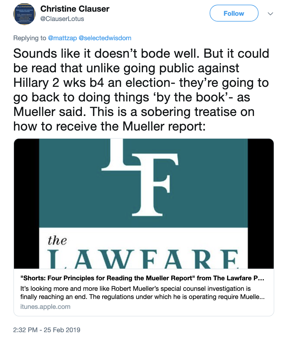Screen-Shot-2019-02-25-at-4.02.07-PM Deputy AG Rosenstein Makes Cryptic Mueller Remarks & It's On Corruption Crime Donald Trump Election 2016 Election 2020 Mueller Politics Robert Mueller Russia Top Stories