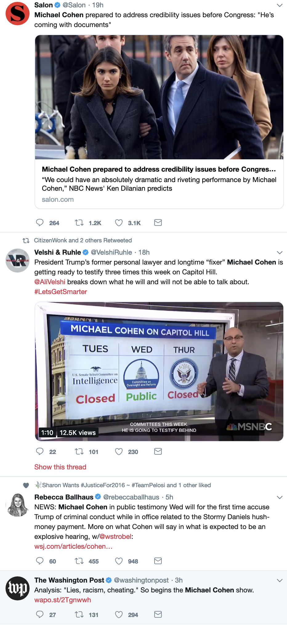Screen-Shot-2019-02-26-at-8.53.13-AM Cohen To Testify Against Trump's Crimes While In Office In 'Granular Detail' Corruption Crime Donald Trump Election 2016 Mueller Politics Robert Mueller Russia Top Stories