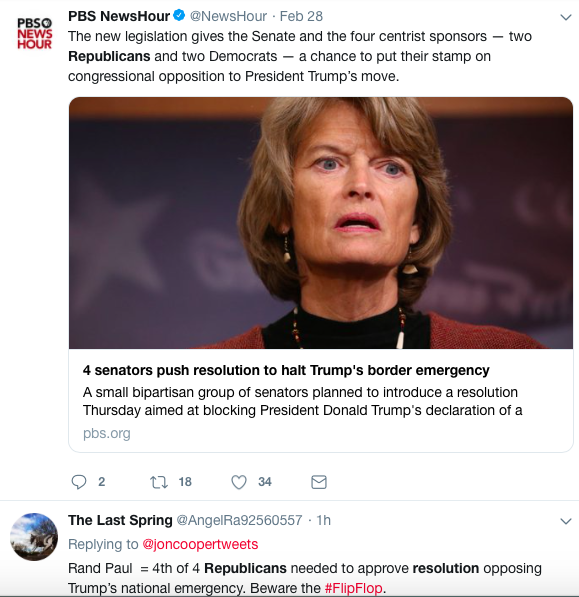 Screen-Shot-2019-03-03-at-1.35.13-PM 4 GOP Senators Defect From Trump & Announce Block To Emergency Declaration Corruption Donald Trump Featured Politics Top Stories