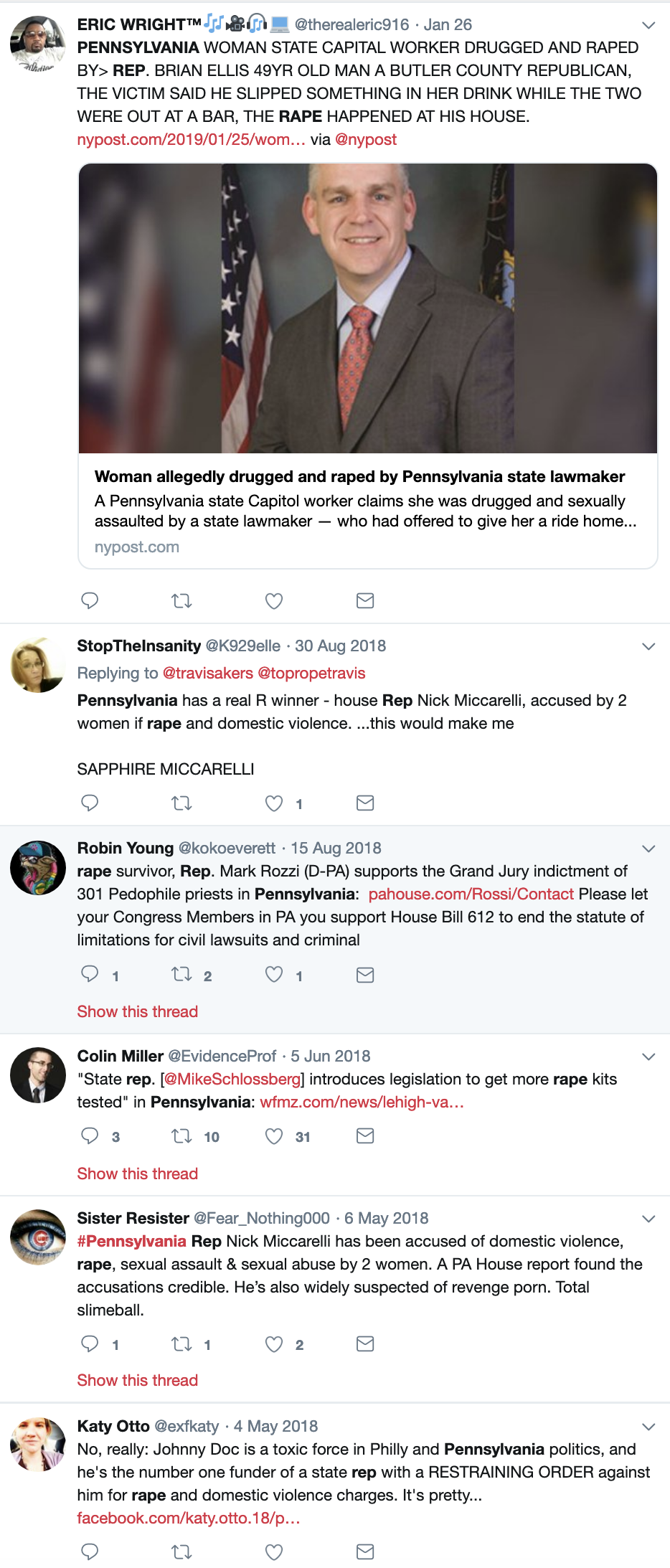 Screen-Shot-2019-03-19-at-1.12.35-PM Republican Accused Of Raping Unconscious Woman, Resigns Instantly Corruption Crime Donald Trump Feminism Politics Sexual Assault/Rape Top Stories