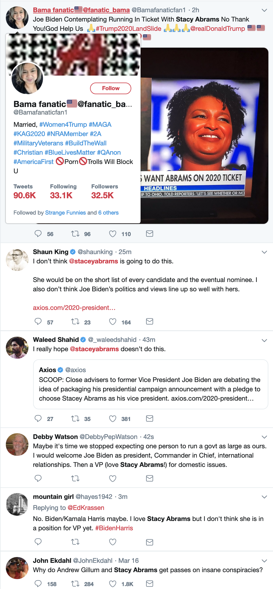 Screen-Shot-2019-03-21-at-8.37.32-AM Biden Makes VP Consideration Way Ahead Of Schedule - GOP Snarks Corruption Crime Domestic Policy Donald Trump Election 2020 Politics Top Stories