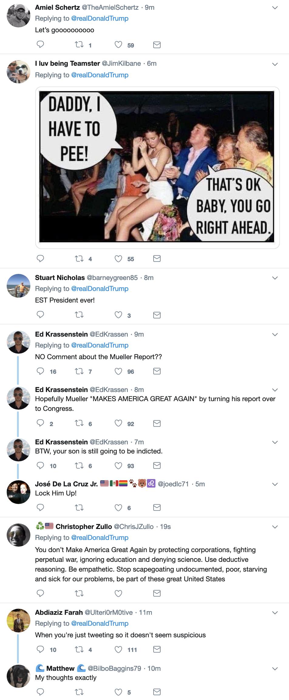 Screen-Shot-2019-03-24-at-7.14.54-AM Trump Flops Awake, Gets Online, & Tweets Sunday Morning Gibberish To America Corruption Crime Donald Trump Mueller Politics Robert Mueller Russia Top Stories