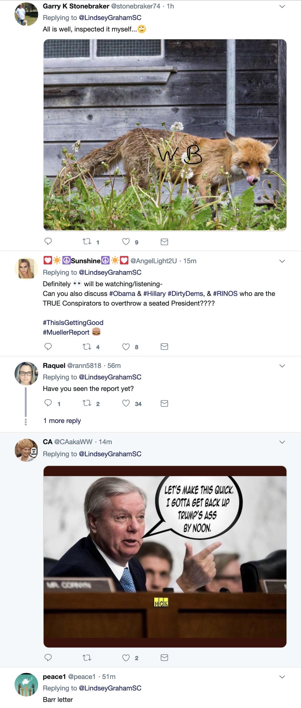 Screen-Shot-2019-03-25-at-8.53.22-AM Graham Makes Mueller Report Announcement On Twitter Monday Corruption Crime Donald Trump Election 2016 Mueller Politics Robert Mueller Russia Top Stories