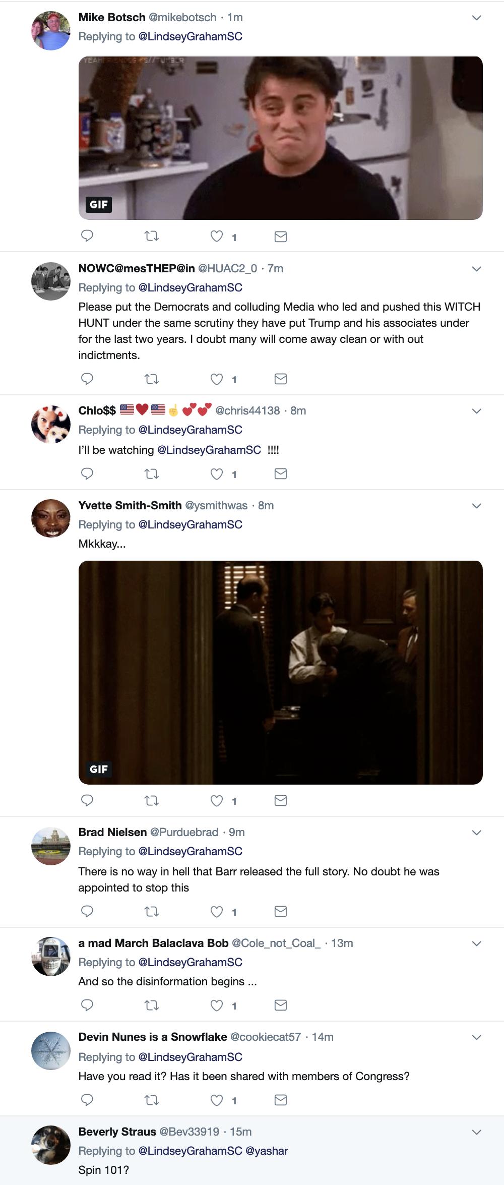 Screen-Shot-2019-03-25-at-8.53.41-AM Graham Makes Mueller Report Announcement On Twitter Monday Corruption Crime Donald Trump Election 2016 Mueller Politics Robert Mueller Russia Top Stories