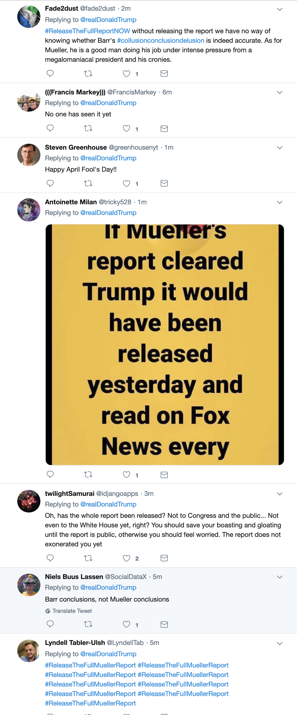 Screen-Shot-2019-04-01-at-7.16.01-AM Trump Tweets Monday Madness, Swears Mueller Report Was Released Child Abuse Corruption Crime Donald Trump Immigration Investigation Mueller Politics Racism Refugees Robert Mueller Russia Top Stories