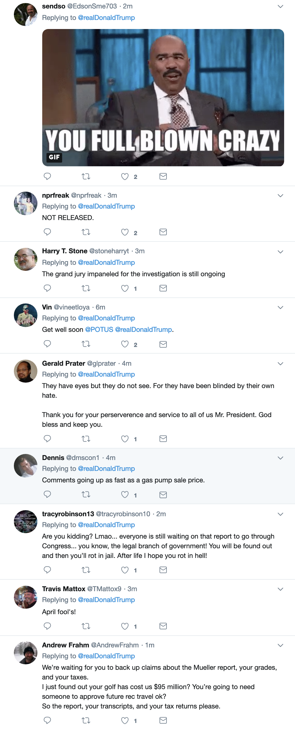 Screen-Shot-2019-04-01-at-7.16.11-AM Trump Tweets Monday Madness, Swears Mueller Report Was Released Child Abuse Corruption Crime Donald Trump Immigration Investigation Mueller Politics Racism Refugees Robert Mueller Russia Top Stories