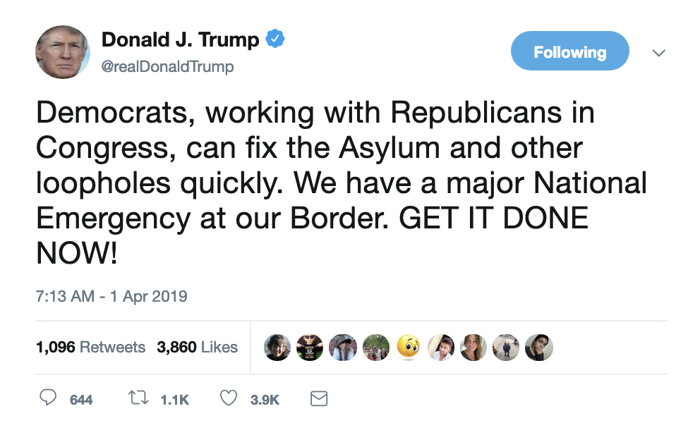 Screen-Shot-2019-04-01-at-7.17.04-AM Trump Tweets Monday Madness, Swears Mueller Report Was Released Child Abuse Corruption Crime Donald Trump Immigration Investigation Mueller Politics Racism Refugees Robert Mueller Russia Top Stories