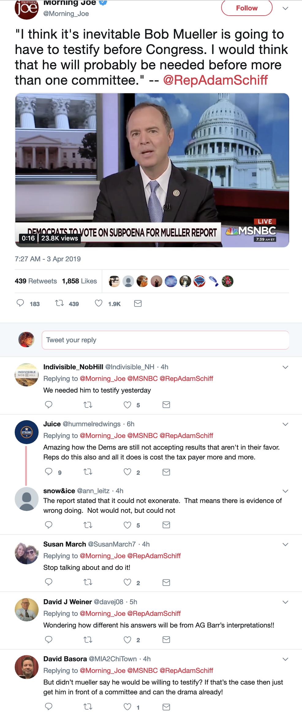 Screen-Shot-2019-04-03-at-1.29.20-PM House Intel Chair Taunts Trump With Mueller Testimony Announcement Corruption Crime Donald Trump Investigation Mueller Politics Robert Mueller Russia Top Stories