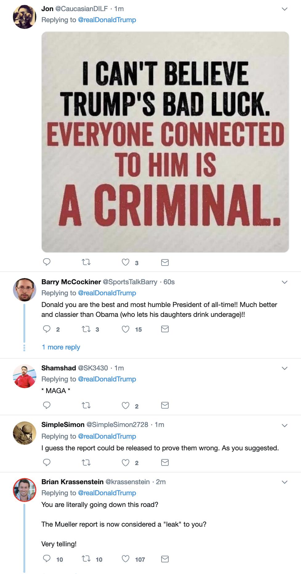 Screen-Shot-2019-04-07-at-8.54.23-AM Trump Finishes Sunday TV & Live Tweets Rage Filled Emotional Collapse Corruption Crime Donald Trump Election 2016 Investigation Media Mueller Politics Robert Mueller Russia Top Stories
