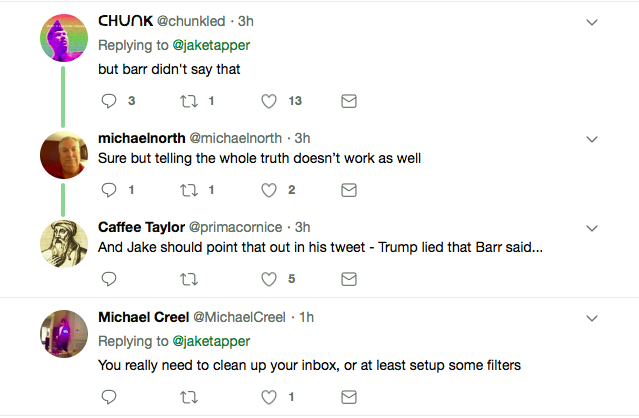 Screen-Shot-2019-04-13-at-3.28.47-PM Trump Sends Out Texts & Emails Misquoting AG Barr Like A Fake President Donald Trump Featured Politics Robert Mueller Top Stories