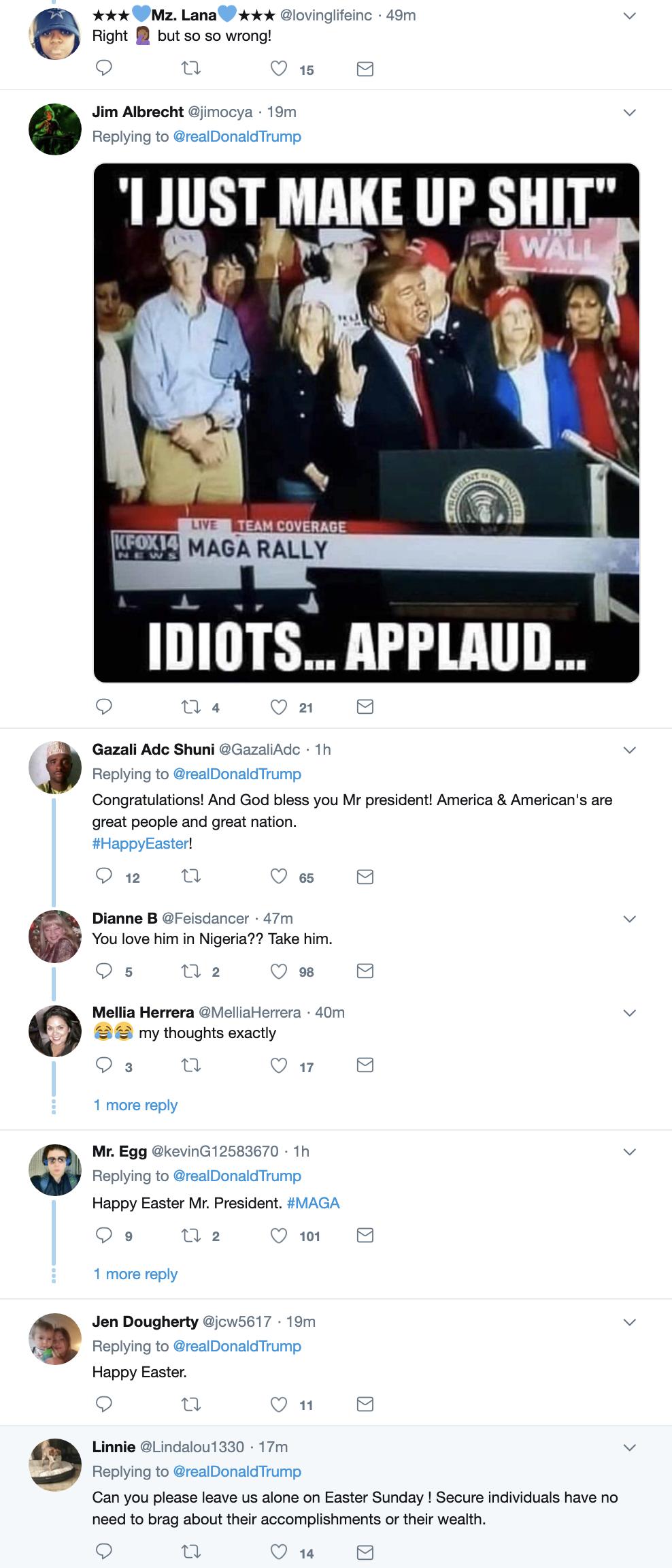 Screen-Shot-2019-04-21-at-7.08.10-AM Trump Wakes Up & Suffers 5-Tweet Easter Sunday Mental Collapse Corruption Crime Donald Trump Investigation Mueller Politics Robert Mueller Russia Top Stories