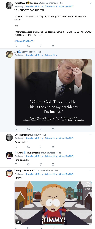 Screen-Shot-2019-04-22-at-7.54.01-AM Trump Embarrasses Himself On Twitter After Binge Watching Fox News Corruption Crime Donald Trump Investigation Mueller Politics Robert Mueller Russia Top Stories