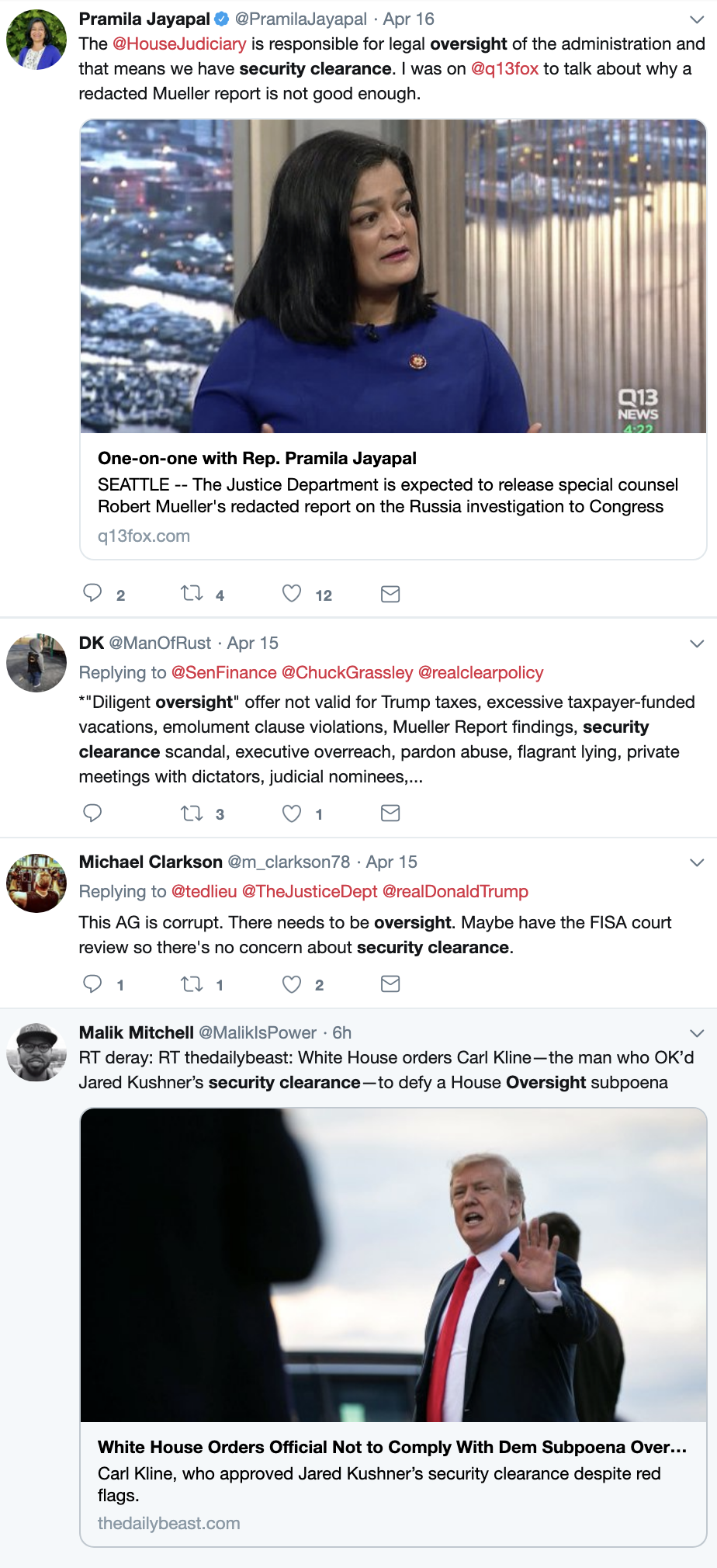 Screen-Shot-2019-04-23-at-1.46.13-PM Trump Directs Former Official To Break Law, House Oversight Responds Corruption Crime Domestic Policy Donald Trump Foreign Policy National Security Politics Scandal Top Stories