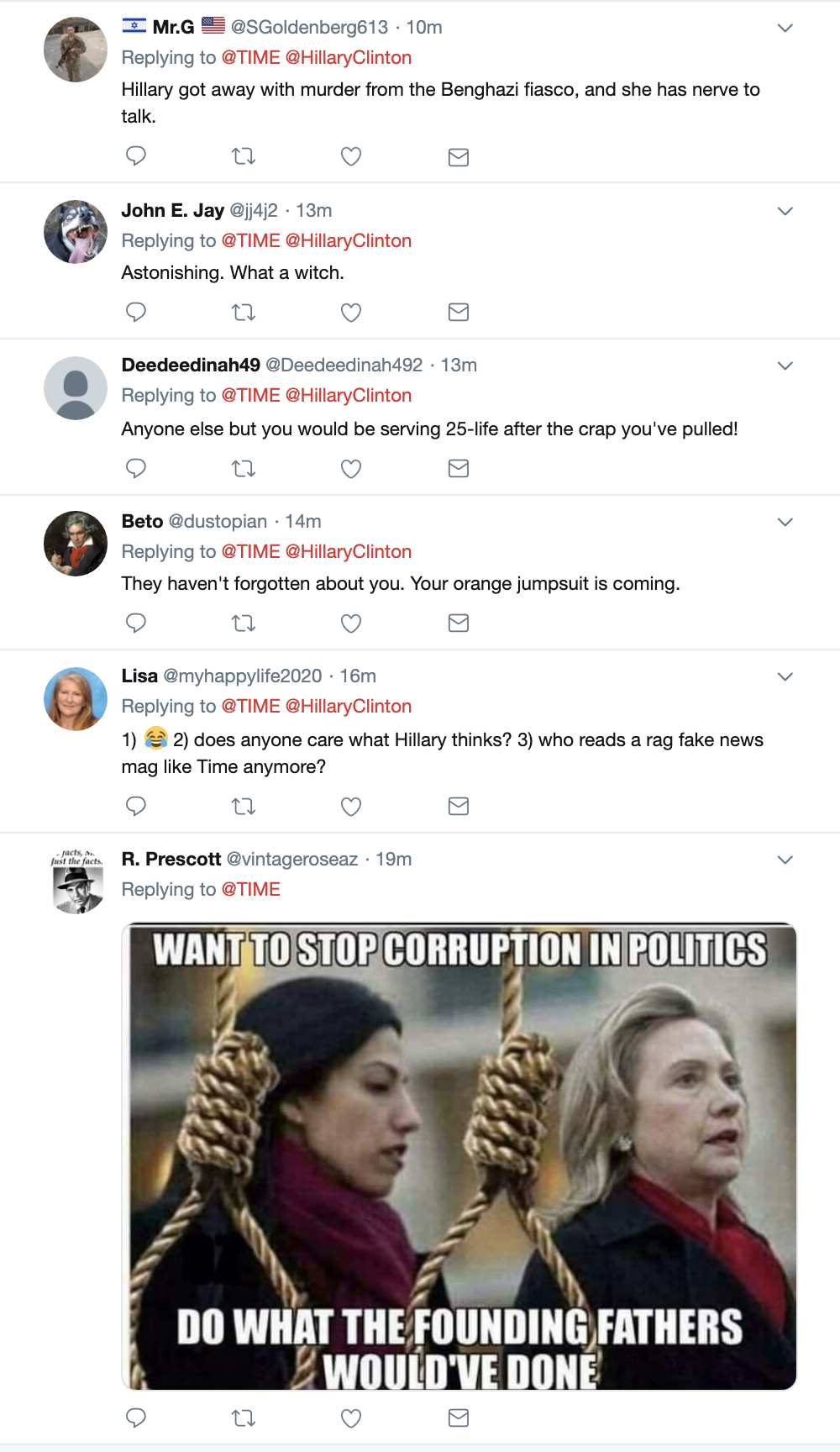 Screen-Shot-2019-04-23-at-3.07.52-PM Hillary Talks About Trump Going To Prison & People Lose Their Sh*t Corruption Crime Donald Trump Election 2016 Investigation Mueller Politics Robert Mueller Russia Top Stories