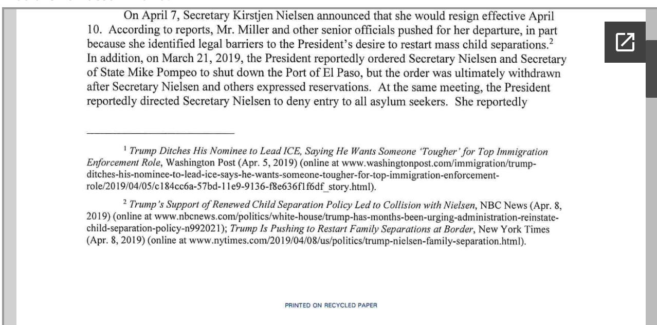 Screen-Shot-2019-04-25-at-2.18.40-PM House Committee Chairs Demand Answers From Homeland Security Corruption Crime Donald Trump Immigration Investigation Politics Racism Refugees Top Stories