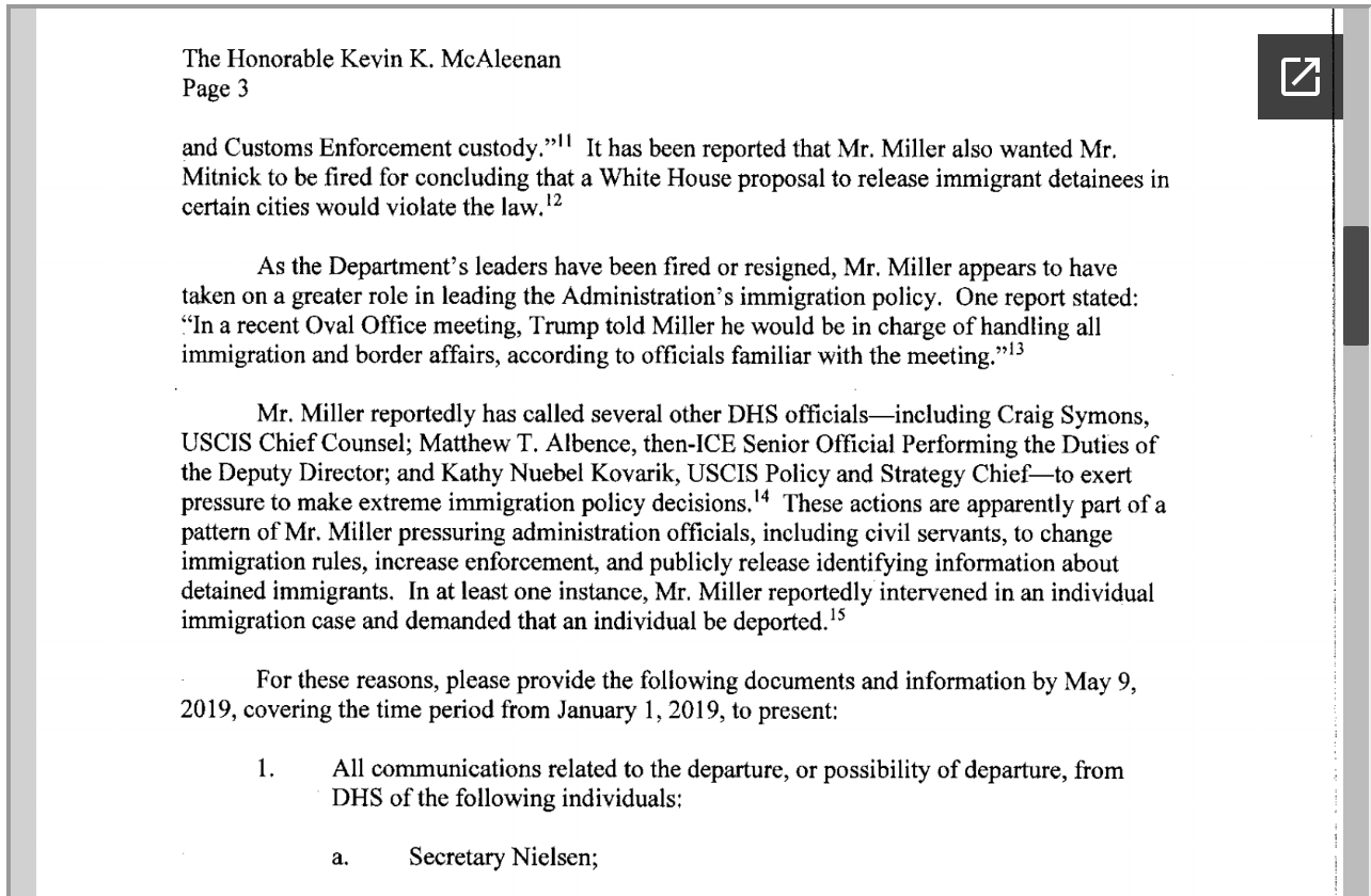 Screen-Shot-2019-04-25-at-2.19.34-PM House Committee Chairs Demand Answers From Homeland Security Corruption Crime Donald Trump Immigration Investigation Politics Racism Refugees Top Stories