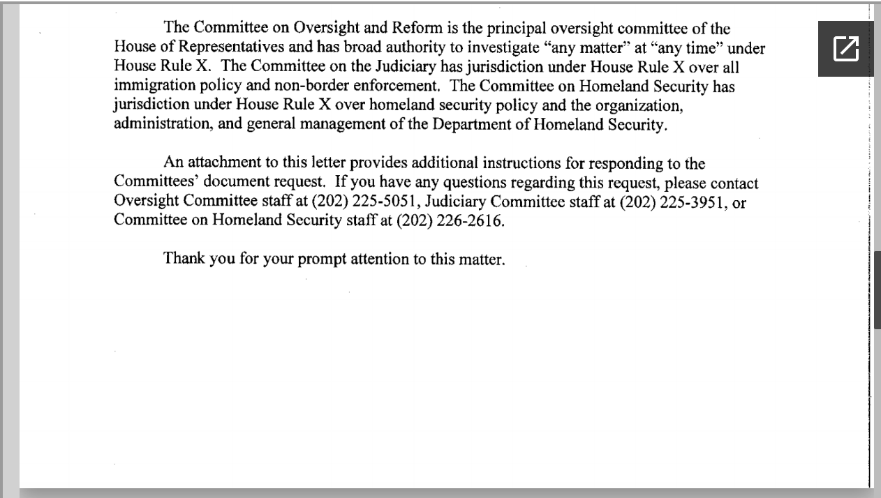 Screen-Shot-2019-04-25-at-2.20.58-PM House Committee Chairs Demand Answers From Homeland Security Corruption Crime Donald Trump Immigration Investigation Politics Racism Refugees Top Stories