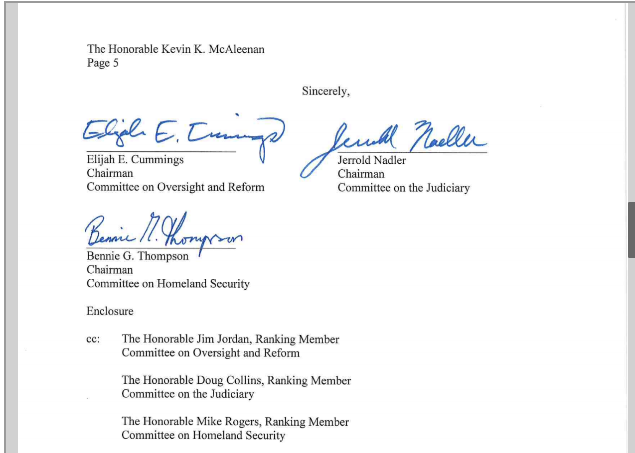Screen-Shot-2019-04-25-at-2.21.14-PM House Committee Chairs Demand Answers From Homeland Security Corruption Crime Donald Trump Immigration Investigation Politics Racism Refugees Top Stories