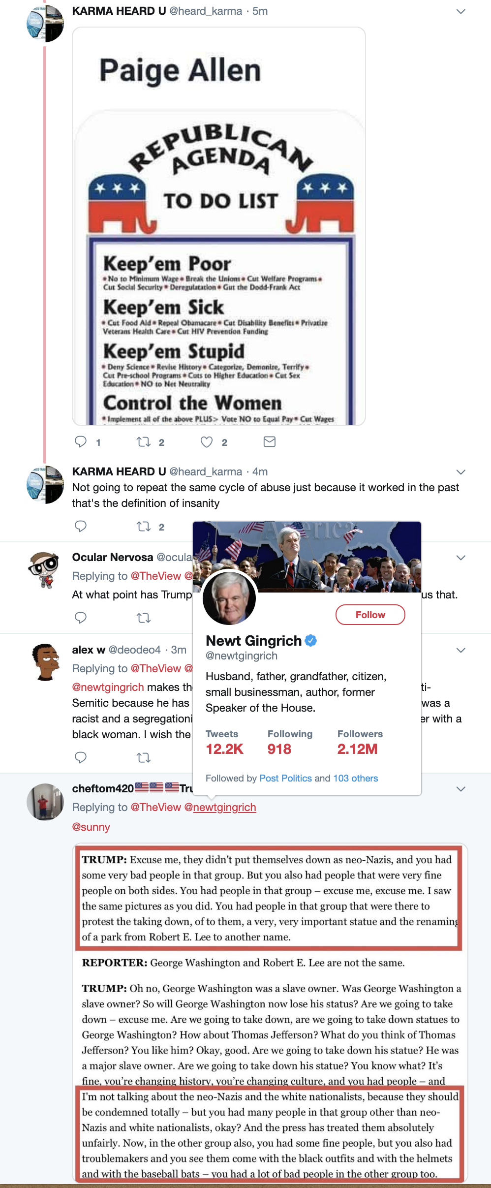 Screen-Shot-2019-04-29-at-1.01.38-PM Gingrich Defends Trump's Neo-Nazi Statements On 'The View' & Regrets It Anti-Semitism Corruption Crime Domestic Policy Donald Trump Hate Speech Media Politics Racism Terrorism Top Stories