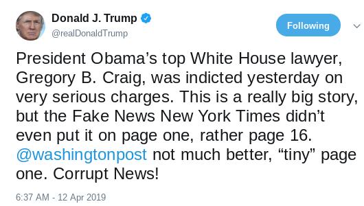 Screenshot-2019-04-12-at-11.26.43-AM Trump Flies Into Embarrassing Anti-Obama A.M. Twitter Rant Donald Trump Politics Social Media Top Stories