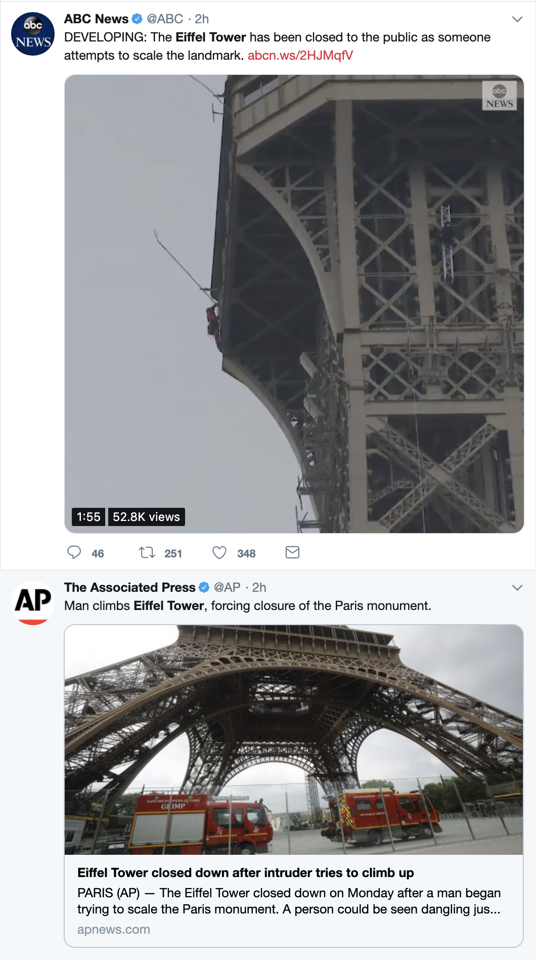 Screen-Shot-2019-05-20-at-12.13.19-PM JUST IN: Police Shut Down Eiffel Tower Shut Over Criminal Act Crime Foreign Policy Social Media Top Stories