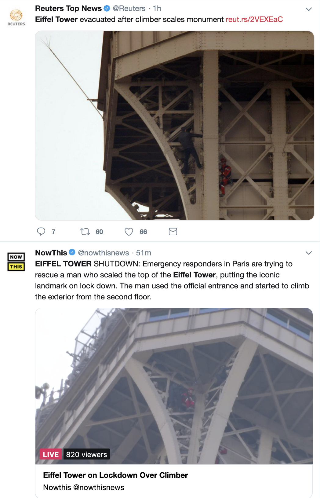 Screen-Shot-2019-05-20-at-12.13.39-PM JUST IN: Police Shut Down Eiffel Tower Shut Over Criminal Act Crime Foreign Policy Social Media Top Stories
