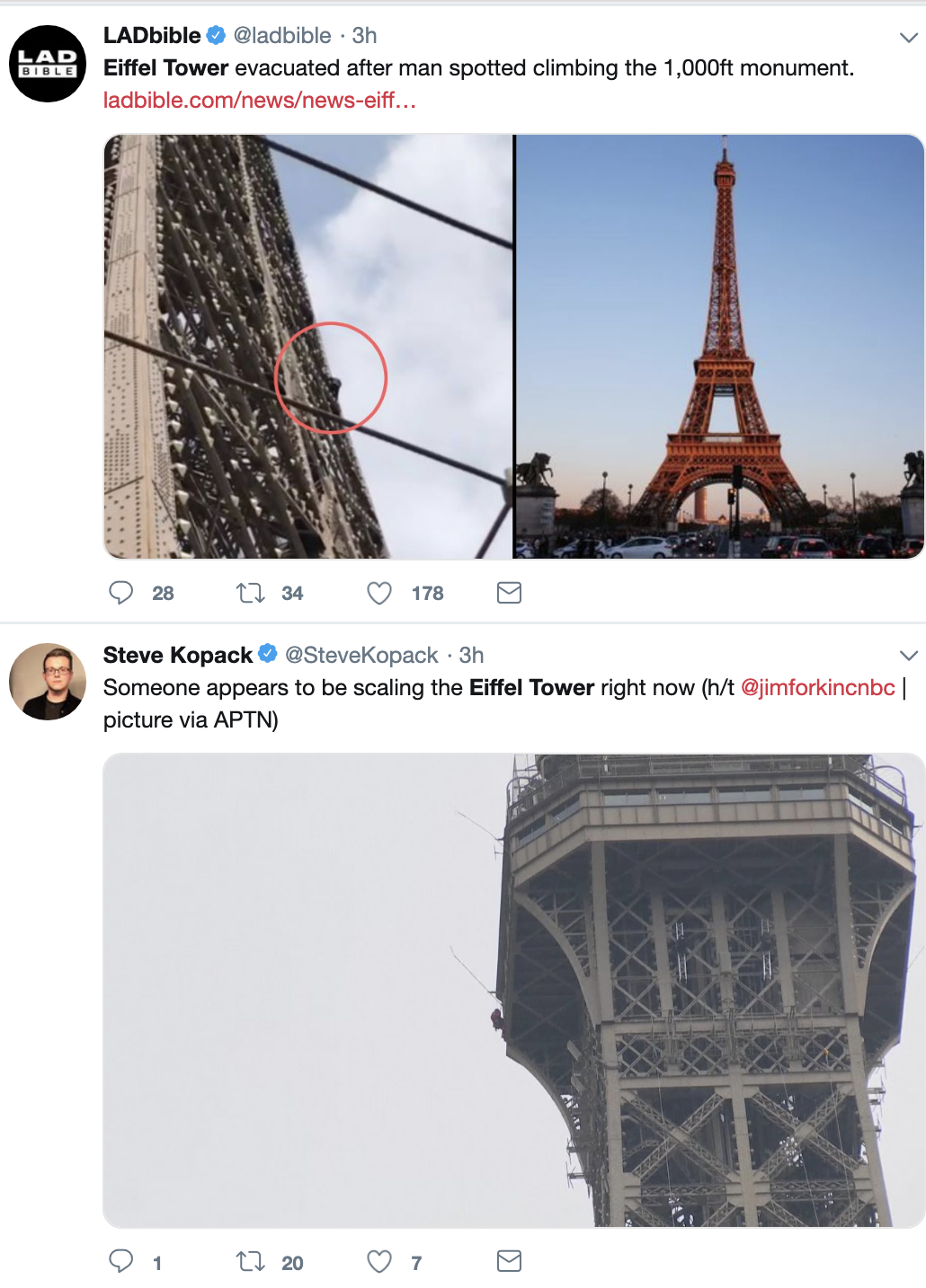 Screen-Shot-2019-05-20-at-12.15.33-PM JUST IN: Police Shut Down Eiffel Tower Shut Over Criminal Act Crime Foreign Policy Social Media Top Stories