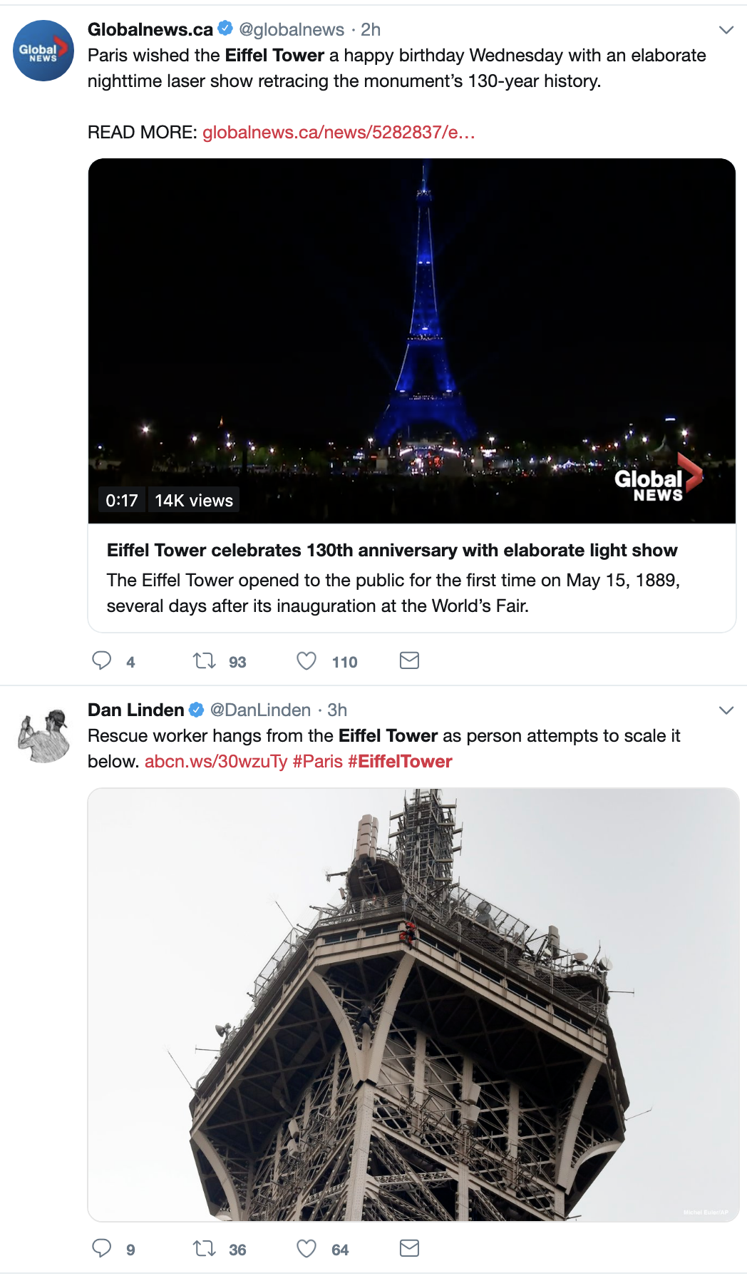 Screen-Shot-2019-05-20-at-12.15.54-PM JUST IN: Police Shut Down Eiffel Tower Shut Over Criminal Act Crime Foreign Policy Social Media Top Stories