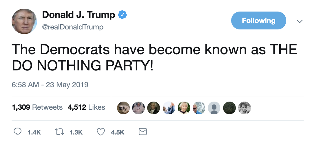 Screen-Shot-2019-05-23-at-7.04.37-AM Trump Acts A Fool On Twitter During Bizarre Pre-Dawn Freakout Corruption Crime Domestic Policy Donald Trump Election 2016 Election 2020 Politics Top Stories