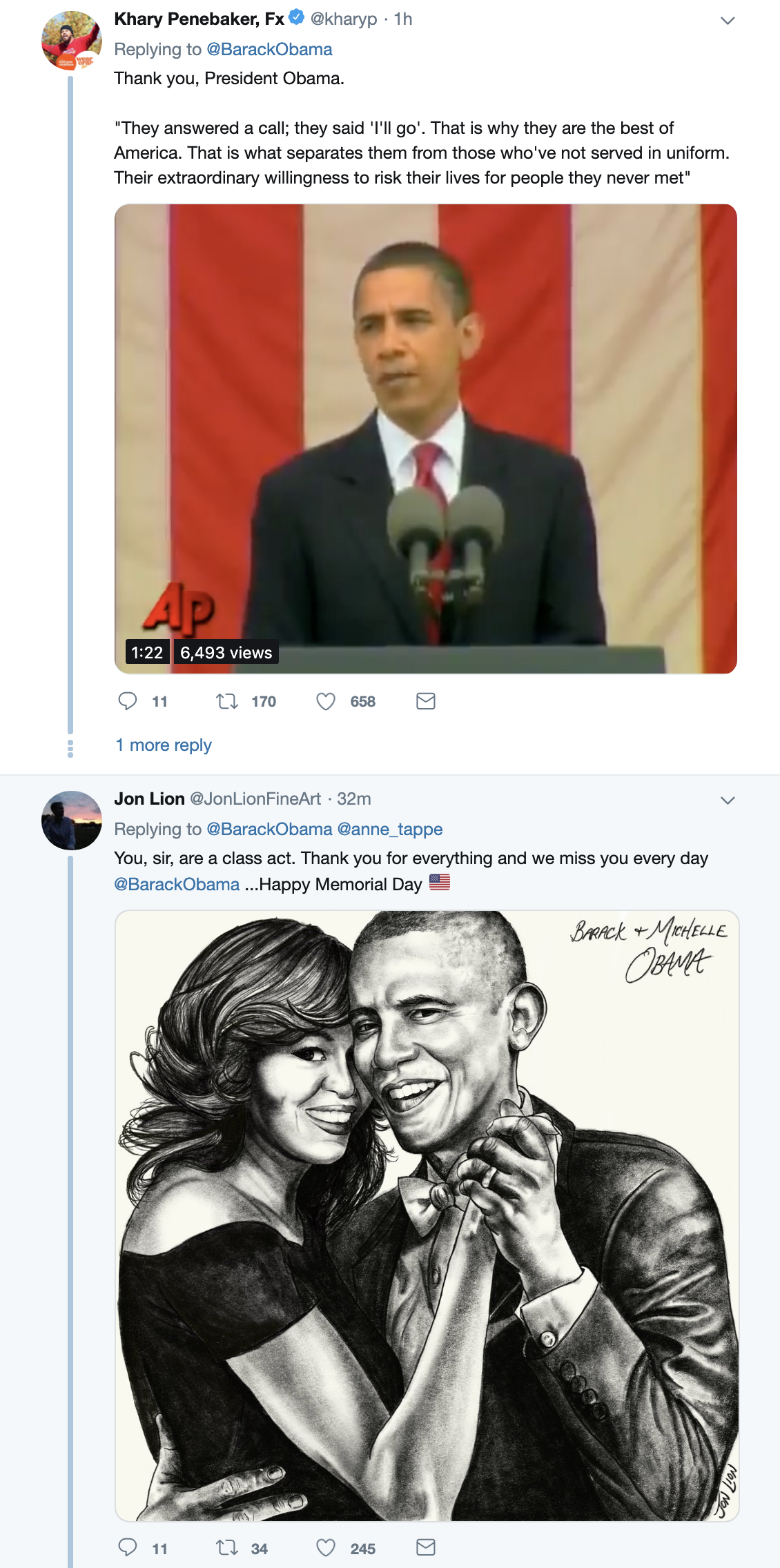 Screen-Shot-2019-05-27-at-11.30.57-AM Obama Returns & Tweets Loving Message That Will Make Donald Rage Corruption Crime Donald Trump Foreign Policy Military Politics Top Stories