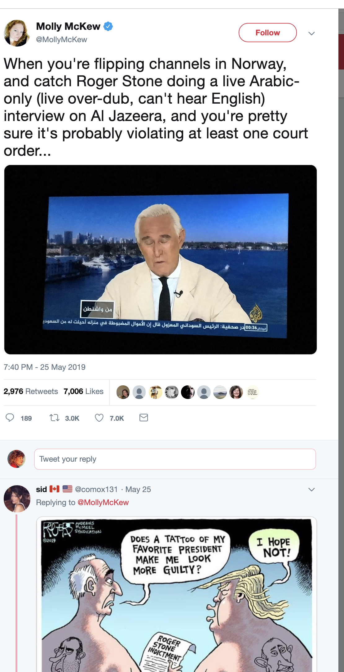 Screen-Shot-2019-05-30-at-10.37.04-AM World-Ending Bombshell Ruins Roger Stone's Day In Court Corruption Crime Donald Trump Election 2016 Investigation Mueller Politics Robert Mueller Russia Top Stories