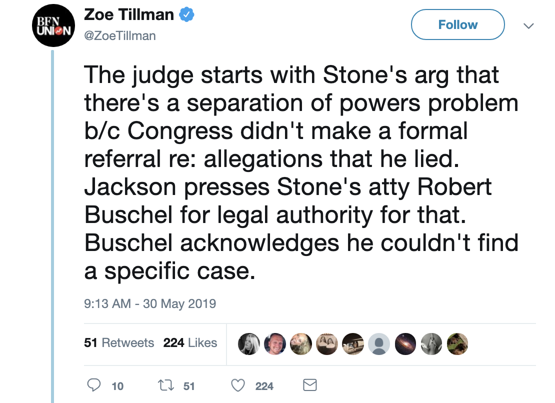 Screen-Shot-2019-05-30-at-10.38.13-AM World-Ending Bombshell Ruins Roger Stone's Day In Court Corruption Crime Donald Trump Election 2016 Investigation Mueller Politics Robert Mueller Russia Top Stories