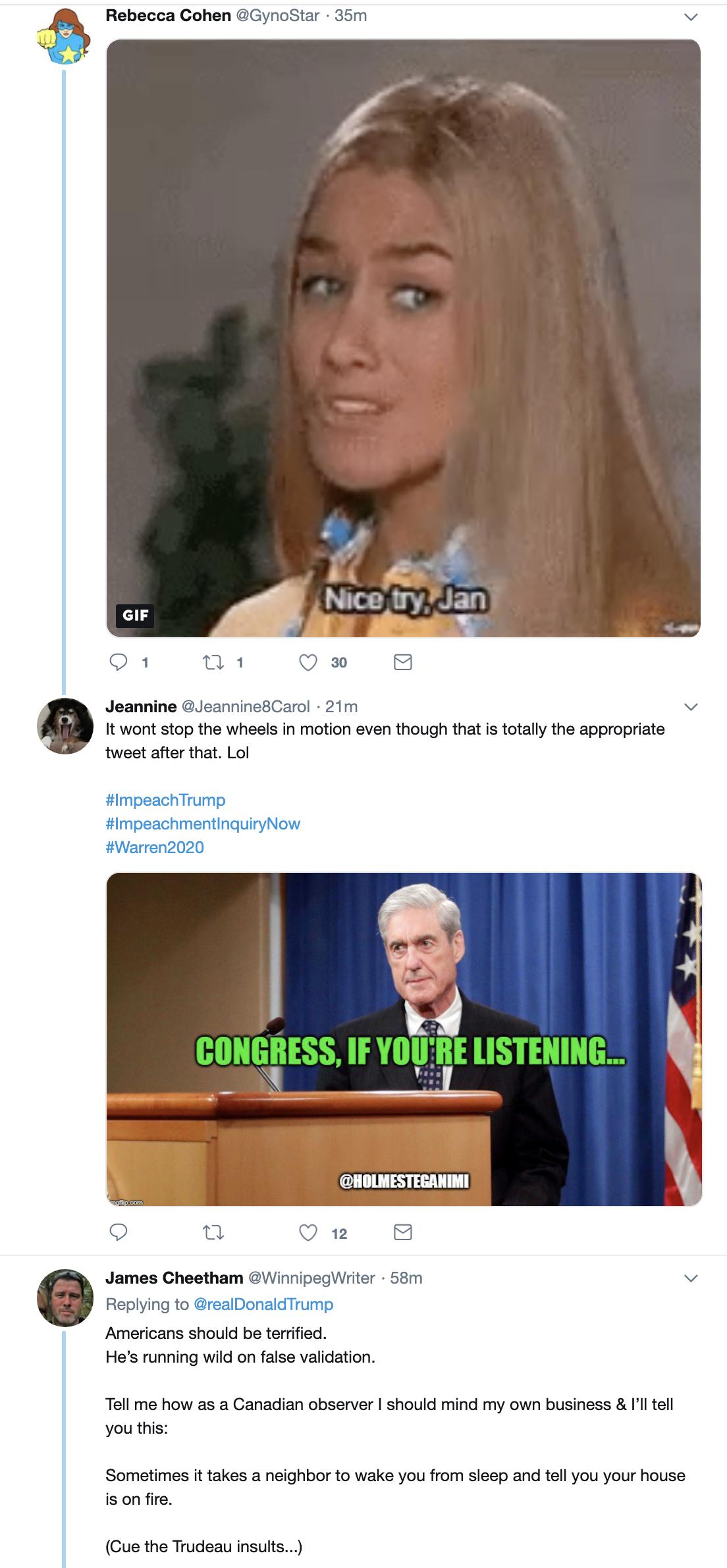 Screen-Shot-2019-05-30-at-8.37.16-AM Trump Denies AM Mueller Rant Moments After He Tweeted It (VIDEO) Corruption Crime Donald Trump Election 2016 Impeachment Investigation Mueller Politics Robert Mueller Russia Top Stories