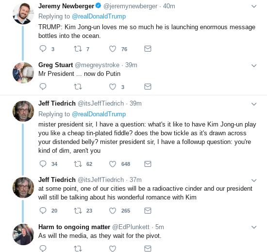 Screenshot-2019-05-04-at-10.28.06-AM Trump Kisses North Korean Ass One Day After Kim Fires Ocean Missiles Donald Trump Politics Social Media Top Stories