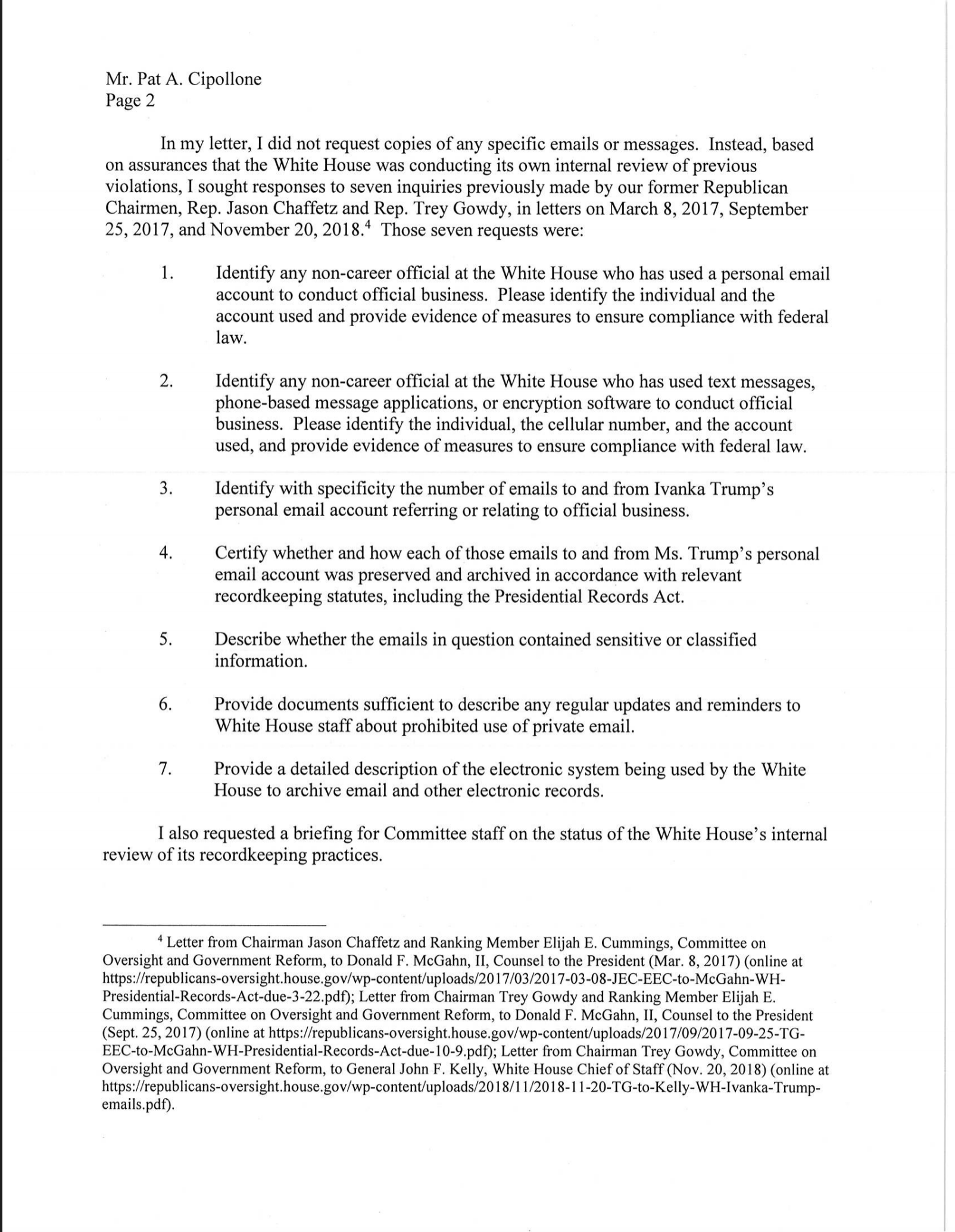 Screen-Shot-2019-07-01-at-3.16.57-PM House Oversight Committee Expands Investigation Into WH Officials Corruption Crime Domestic Policy Donald Trump Hillary Clinton Impeachment Investigation Politics Top Stories