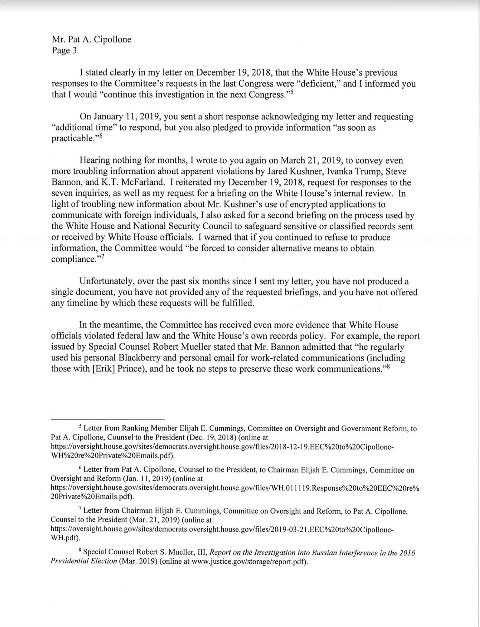 Screen-Shot-2019-07-01-at-3.17.10-PM House Oversight Committee Expands Investigation Into WH Officials Corruption Crime Domestic Policy Donald Trump Hillary Clinton Impeachment Investigation Politics Top Stories