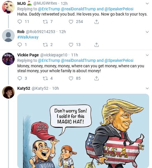 022727eb-screenshot-2019-09-28-at-1.13.05-pm Eric Trump Suffers Weekend Embarrassment After Failed Impeachment Defense Donald Trump Impeachment Politics Social Media Top Stories