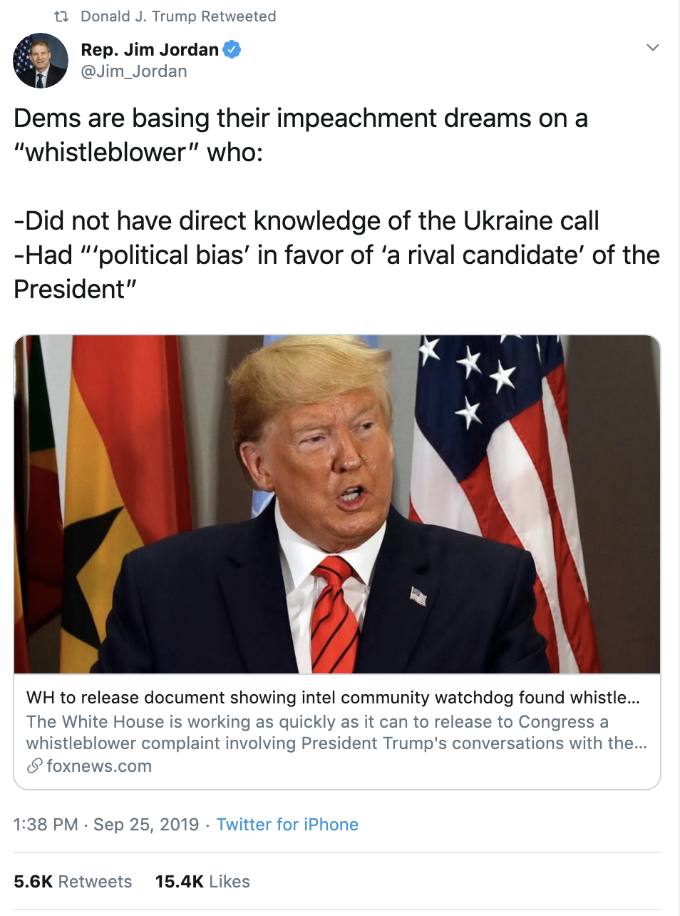 4bdce23a-screen-shot-2019-09-26-at-7.27.18-am Trump Tweets 24x's Times As Whistleblower Complaint Hits public Corruption Crime Domestic Policy Donald Trump Election 2020 Featured Foreign Policy Impeachment Investigation Military Politics Russia Top Stories