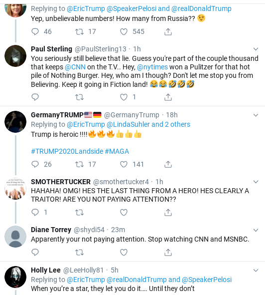 5fec7520-screenshot-2019-09-28-at-1.17.14-pm Eric Trump Suffers Weekend Embarrassment After Failed Impeachment Defense Donald Trump Impeachment Politics Social Media Top Stories