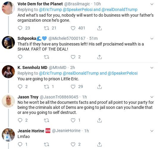 9fbb79dd-screenshot-2019-09-28-at-1.14.54-pm Eric Trump Suffers Weekend Embarrassment After Failed Impeachment Defense Donald Trump Impeachment Politics Social Media Top Stories