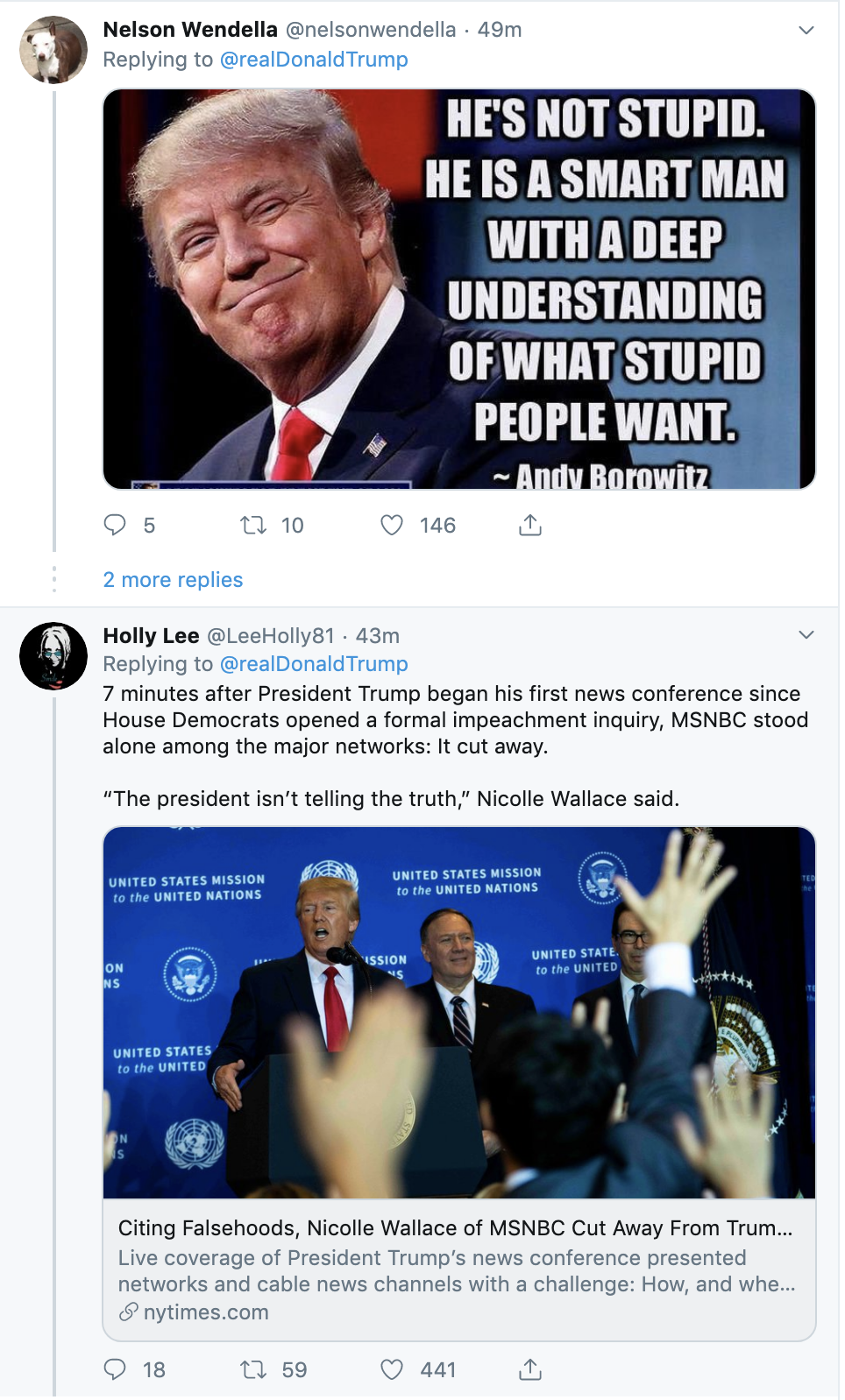 db44e7f9-screen-shot-2019-09-26-at-7.16.05-am Trump Tweets 24x's Times As Whistleblower Complaint Hits public Corruption Crime Domestic Policy Donald Trump Election 2020 Featured Foreign Policy Impeachment Investigation Military Politics Russia Top Stories