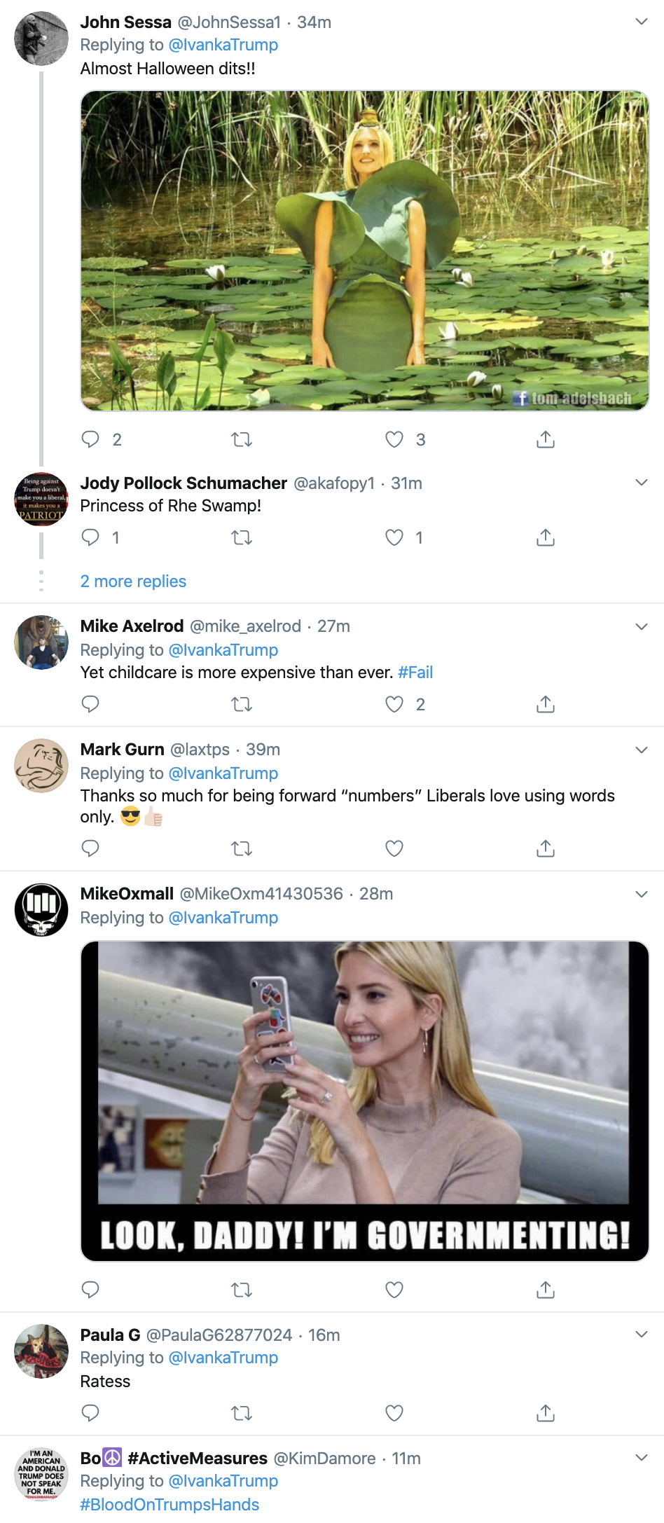 0a500509-screen-shot-2019-10-16-at-8.54.27-am Ivanka Tweets Moronic Response To Dem Debate & Regrets It Fast Child Abuse Corruption Crime Domestic Policy Donald Trump Featured Feminism Foreign Policy Impeachment Investigation Military National Security Politics Top Stories War Women's Rights