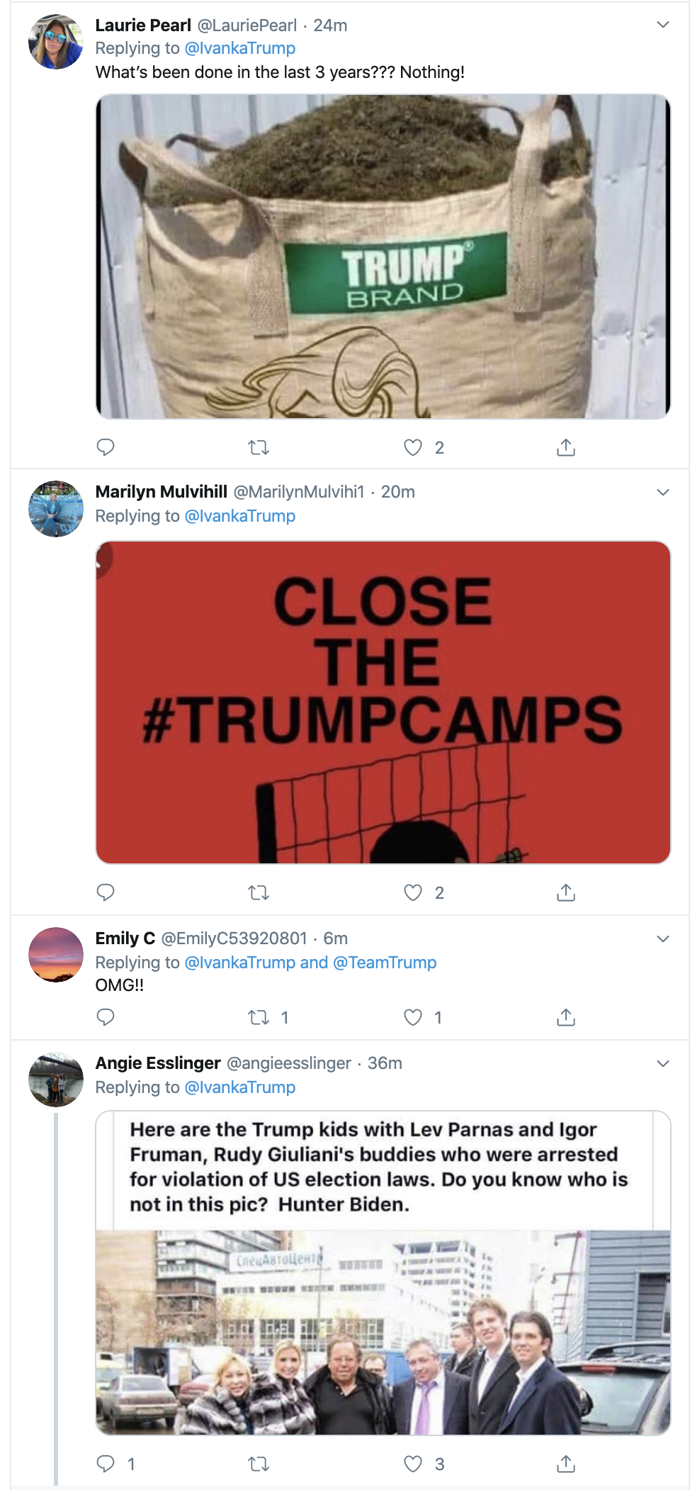 27c917e7-screen-shot-2019-10-16-at-8.54.13-am Ivanka Tweets Moronic Response To Dem Debate & Regrets It Fast Child Abuse Corruption Crime Domestic Policy Donald Trump Featured Feminism Foreign Policy Impeachment Investigation Military National Security Politics Top Stories War Women's Rights