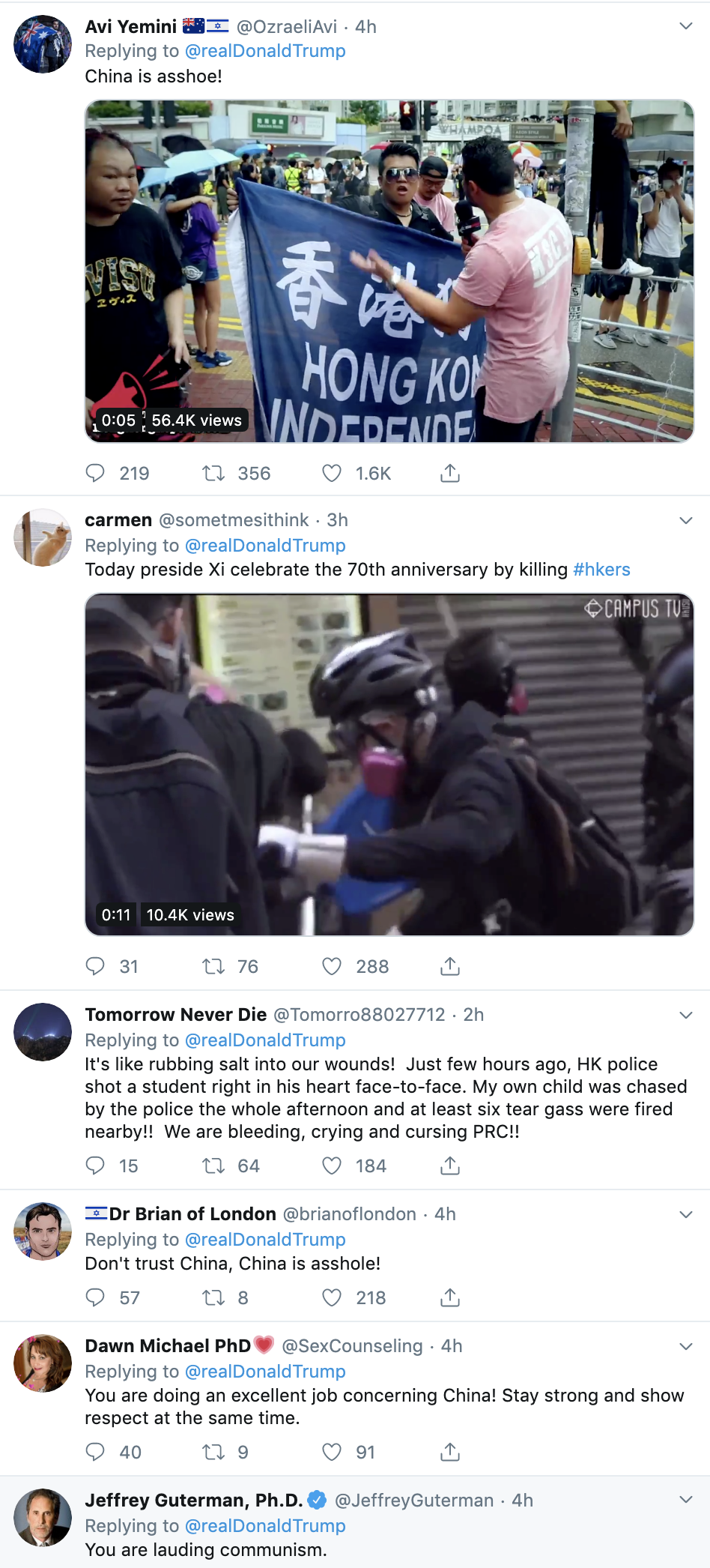 42e6dd90-screen-shot-2019-10-01-at-10.07.06-am Trump Sends Congrats To Communist, Torturing, Murderous Dictator Corruption Crime Donald Trump Economy Election 2020 Featured History Military Politics Protest Top Stories
